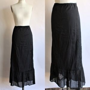 White House Black Market Black Cotton Skirt, SZ M